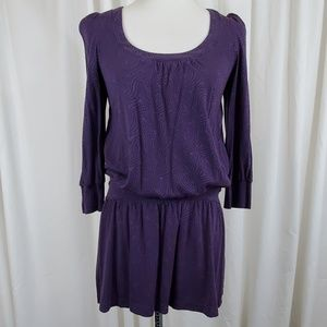 Juicy Couture Purple and Black Patterened Tunic